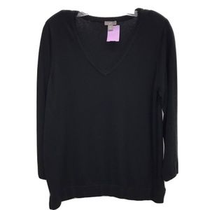 J. Jill Black V-Neck Sweater